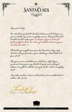 sign up to receive your free from the desk of santa letter