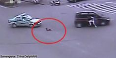 A daddy's love - Man dives from moving car to save daughter
