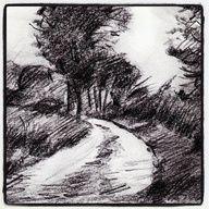 Quick sketch: Country Lane. #art #drawing #sketch #pencil #landscape #graphite