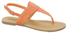 Top Moda Studded Slideon Sandals with Ankle Buckle Straps 10 Lite Orange ** To view further for this item, visit the image link. (This is an affiliate link) Flat Sandals, Slide Sandals, Leather Sandals, Orange Sandals, Designer Sandals, Slippers, Ankle, Ladies Sandals, Africa Dress
