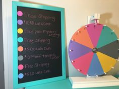 LuLaRoe Prize Wheel Board Comes blank with no writing. Choose your own LulaRoe frame color. Colorful buttons permanently attached. Freestanding board. **Wheel Sold Seperately