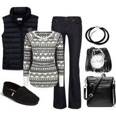 A fashion look from December 2012 featuring Full Tilt tops, Abercrombie & Fitch vests and Citizens of Humanity jeans. Browse and shop related looks.