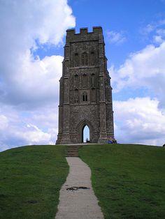 chapel atop Glastonbury Tor, Glastonbury, England