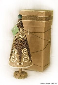 193 (418x604, 137Kb) Christmas Crafts To Make, Christmas Tree Ornaments, Christmas Cards, Christmas Decorations, Diy Home Crafts, Arts And Crafts, Coffee Crafts, Diy Gifts, Decorative Boxes