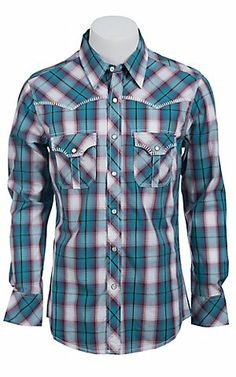 Rock & Roll Cowboy Men's L/S Western Snap Shirt B2S6458 | Cavender's