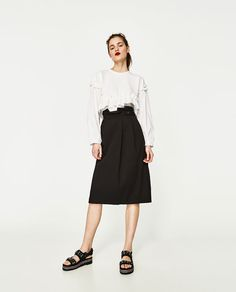 ZARA - WOMAN - SKIRT WITH WAIST DETAIL