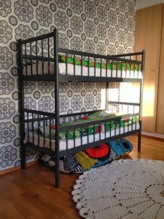Ihana kerrossänky, Niemen tehtaat, Finland Teen Bedroom, Bunk Beds, Retro Vintage, Kids Room, Koti, Furnitures, Finland, Room Ideas, Rooms