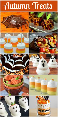 Click here for a great resource that has tutorials for 10 delicious Halloween party treats!