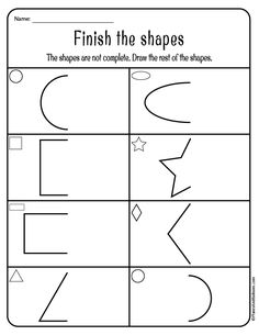 Tracing shapes worksheets for toddlers and preschoolers. Learning shapes can be fun with these free printable worksheets! - Kids education and learning acts Shape Worksheets For Preschool, Shapes Worksheets, Preschool Writing, Preschool Printables, Kindergarten Worksheets, Tracing Worksheets, Preschool Themes, Alphabet Worksheets, Preschool Learning