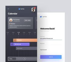 Calendar and login by @acreno Wojciech Zieliński for 10Clouds  #uitrends #inspiration #explore #creativity #app #mobile #website #web #www #interface #uiux #inspiring #weblovers #design #designer #layout #ui #ux #uiux #dribbble #behance #inspire #creative #html #webapp #users #project #webdesigner #uxers #calendar