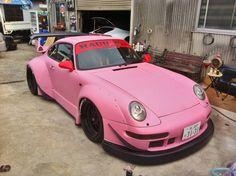 Honestly; so gross! Pepto-Pink Porsche 993 RWB. #everyday993 #Porsche #UsuallyHugeRWBFan