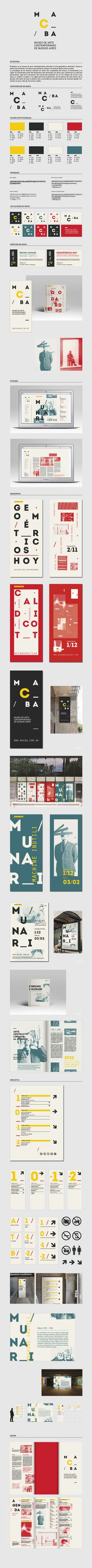 Sistema MACBA by Florencia Beil, via Behance // extensive guidelines and application Corporate Design, Brand Identity Design, Graphic Design Typography, Branding Design, Logo Design, Branding Ideas, Corporate Branding, Design Guidelines, Brand Guidelines