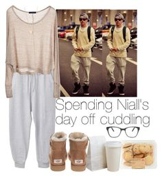 """Spending Niall's day of cuddling"" by cheyenne-stock ❤ liked on Polyvore featuring Brandy Melville, Clu, UGG Australia, Prism and NLY Accessories"