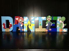 8 inch Super Mario letters for Daniel