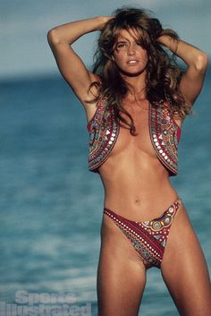 "Elle Macpherson photographed by Robert Huntzinger in a photo shoot for ""Sports Illustrated"" swimsuit magazine......."