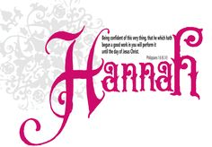 What Hannah means