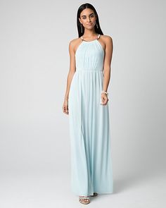 Knit+Halter+Gown