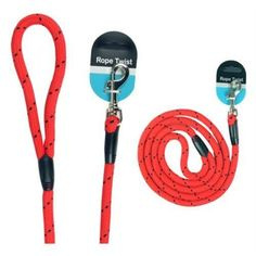 Rosewood Rope trigger Twist Lead, 64-inch, Red/ Black