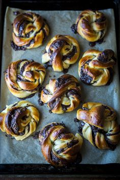 Chocolate Swirl Buns...A delicious pastry, perfect with your morning cup of coffee.   DonalSkehan.com