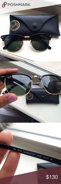 Ray Ban Clubmaster Original Ray Ban Club master. Standard size, all black, barely worn, great condition. 100% Authentic Ray-Ban Accessories Sunglasses