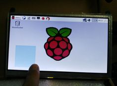 """7 """"USB Capacitive Touch Screen 800x480 LCD HDMI Raspberry Pi 3 / Raspberry Pi 2  #RaspberryPi"""