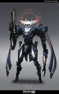 ArtStation - Zero one, Keyi Li. Awesome looking magic mecha with some interesting designs.