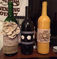 Wine bottle vases! By Gabby Jurcak