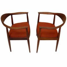 """Scandinavian Modernism - """"The Chair"""" Hans Wegner...to cut down to the simplest possible elements of four legs, a seat, and a combined top rail and armrest.It rose to prominence in the 1961 televised debate between Richard Nixon and John F. Kennedy. Both presidential candidates sat in The Chair during the debate."""