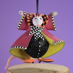 Patience Brewster Halloween Home Decor Mini Mrs. Ratula Ornament
