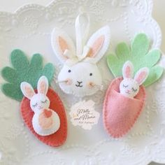 FELT EASTER Bunny PDF Pattern Bundle - 'Bitty Bunnies' and 'Rosie Rabbit' sewing patterns; Easter Gift, Easter Crafts, Easter Bunny, Felt Crafts, Felt Diy, Easter Eggs, English Paper Piecing, Easter Tree Decorations, Easter Decor