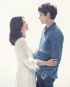 """Song Hye Kyo & Kang Dong Won for Cine21(2014)  Movie""""My Brilliant Life두근두근 내인생""""개봉전 befor Movie Opening"""