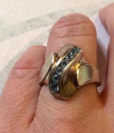 Magnifique engagement silver ring énorme émeraude topaze blanche Zircon Ring SZ 6-10