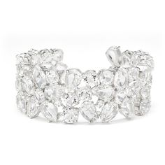 Rental kate spade new york accessories Boathouse Crystal Cuff ($20) ❤ liked on Polyvore featuring jewelry, bracelets, crystal clear, crystal cuff bracelet, clear jewelry, crystal bangle, cuff bracelet and hinged cuff bracelet