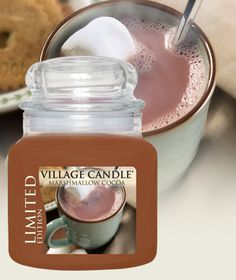 Marshmallow Cocoa Limited Edition-Premium Round-NEW! - Toasted marshmallows & dark chocolate cocoa Village Candle
