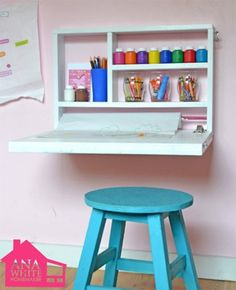 Colorful Painted ChildS Table And Chairs  Paint Kids Table