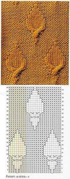 knitting stitch http://domihobby.ru/wp-content/uploads/2011/02/%D0%BB%D0%B8%D1%81%D1%82%D1%8C%D1%8F1.jpg