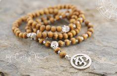 Esoterik-Schmuck - 108 Mala Gebetskette  Holz - ein Designerstück von Cathy-Thica-Namaste bei DaWanda