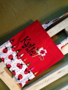 LadyBug Personalized Crayon Bag by BabyPaige on Etsy