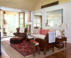 NAHB Certified Green Home - traditional - Family Room - Little Rock - Bret Franks Construction, Inc.