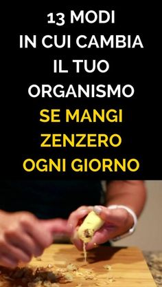 13 Modi In Cui Cambia il Tuo Organismo Se Mangi ZENZERO Ogni Giorno The Cure, Cooking, Beauty, Diet, Health, Kitchen, Beauty Illustration, Brewing, Cuisine