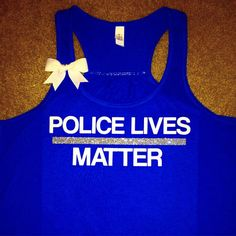 Police Lives Matter - Thin Blue Line Tank - Police Wife Tank - Law Enf – Ruffles with Love #policelivesmatter #policewife #leowife