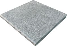Granite floor tiles & pavers in a speckled light, silver grey colour with a flamed finish are safe and durable outdoor paving products