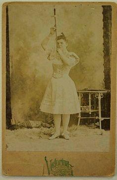 European Sword Swallower 1800's Circus