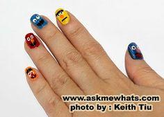 """Askmewhats: Nail Art Tutorial: """"Sesame Street"""" Nails"""