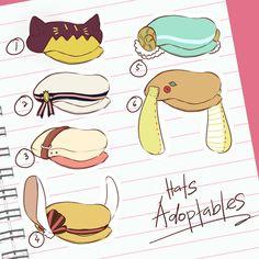 Adoptables #11: Hats [CLOSED] by minniekki on DeviantArt