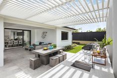 OUTDOOR LIVING / ALFRESCO - Synergy Premier Twin with Edge 2 Facade on display at Oran Park Custom Home Designs, Custom Homes, Pergola, New Home Builders, Outdoor Living, Outdoor Decor, Investment Property, Facade, New Homes