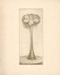 Tiffany favrile glass : made under the supervision of Mr. Louis C. Tiffany, Tiffany Studios, 333 Fourth Avenue, New York. 1899. Metropolitan Museum of Art (New York, N.Y.). Thomas J. Watson Library. Tiffany. #tiffany #favrileglass #flowerform | This flower form vase is like having springtime in your house all year round.