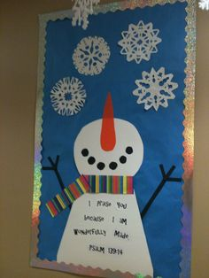 Sunday school winter bulletin board