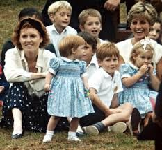 Update: September 15, 1991: Vintage photo of Princess Diana among children - Princess Beatrice Birthday party.