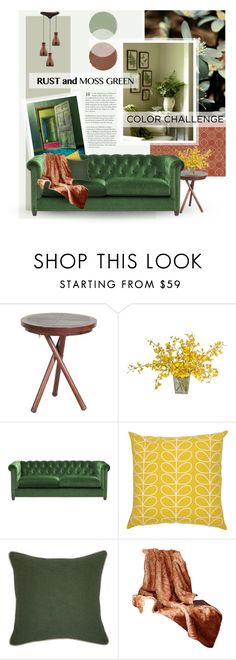"""""""Moss/Rust"""" by crazydita ❤ liked on Polyvore featuring interior, interiors, interior design, home, home decor, interior decorating, Occa Maison, Orla Kiely, Villa Home Collection and topsets"""